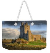 Dunguaire Castle With Dramatic Sky Kinvara Galway Ireland Weekender Tote Bag by Juli Scalzi