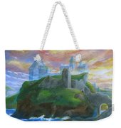 Dunscaith Castle - Shadows Of The Past Weekender Tote Bag