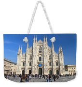 Duomo In Milano. Italy Weekender Tote Bag