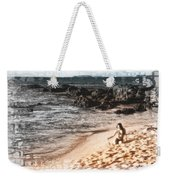 Duotone Beach Scene Weekender Tote Bag