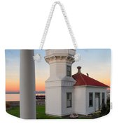 Dusk At Mukilteo Lighhouse Weekender Tote Bag
