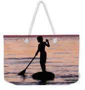 Dusk Float - Sunset Art Weekender Tote Bag by Sharon Cummings