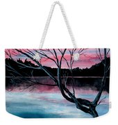 Dusk Lake Arrowhead Maine  Weekender Tote Bag