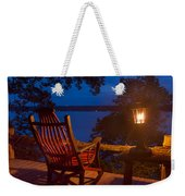 Dusk On The Lake Square Weekender Tote Bag