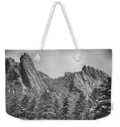 Dusted Flatiron In Black And White  Weekender Tote Bag