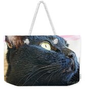 Dusty Black Cat Weekender Tote Bag