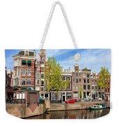 Dutch Canal Houses In Amsterdam Weekender Tote Bag