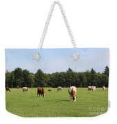 Dutch Landscape With Cows Weekender Tote Bag