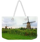 Dutch Landscape With Windmills Weekender Tote Bag by Carol Groenen