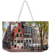 Dutch Style Traditional Houses In Amsterdam Weekender Tote Bag