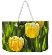 Dutch Yellow Tulip Flowers On Windmill Island In Holland Michigan Weekender Tote Bag
