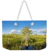 Dwarf Cypress Trees In A Field Weekender Tote Bag