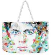 Dylan Thomas - Watercolor Portrait Weekender Tote Bag