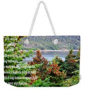e e Cummings Quote Weekender Tote Bag
