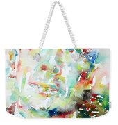 E. E. Cummings - Watercolor Portrait Weekender Tote Bag