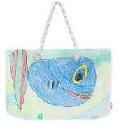 E' S Blue Fish Weekender Tote Bag