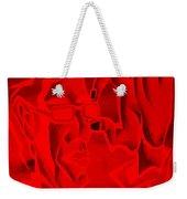 E Vincent Negative Red Weekender Tote Bag