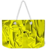 E Vincent Negative Yellow Weekender Tote Bag