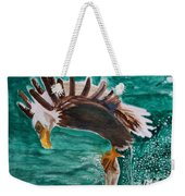 Eagle Fishing Weekender Tote Bag