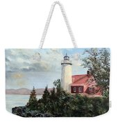 Eagle Harbor Light Weekender Tote Bag
