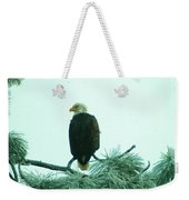 Eagle On A Frozen Pine Weekender Tote Bag by Jeff Swan