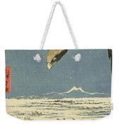 Eagle Over One Hundred Thousand Acre Plain At Susaki Weekender Tote Bag