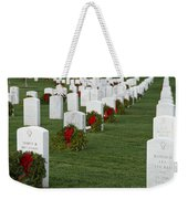 Eagle Point National Cemetery At Christmas Weekender Tote Bag