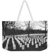 Eagle Point National Cemetery In Black And White Weekender Tote Bag by Mick Anderson