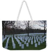 Eagle Point National Cemetery In Winter 1 Weekender Tote Bag