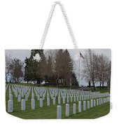 Eagle Point National Cemetery In Winter 2 Weekender Tote Bag