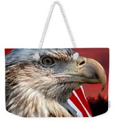 Eagle With Pledge Allegiance Weekender Tote Bag