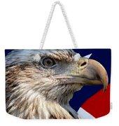 Eagle With Us American Flag Weekender Tote Bag