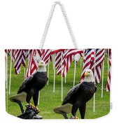 Eagles And Flags On Memorial Day Weekender Tote Bag