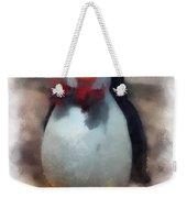 Ear Muff Penguin Photo Art Weekender Tote Bag