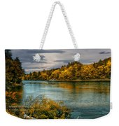Early Autumn Along The Androscoggin River Weekender Tote Bag