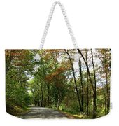 Early Autumn Drive Weekender Tote Bag