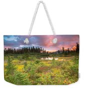 Early Autumn Meadow Sunset At Mt Baker Weekender Tote Bag