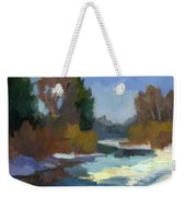 Early Autumn Snow Weekender Tote Bag