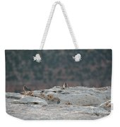 Early Birds On The Edge Weekender Tote Bag