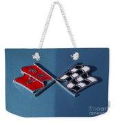 Early C3 Corvette Emblem Blue Weekender Tote Bag