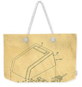 Early Computer Mouse Patent Yellowed Paper Weekender Tote Bag