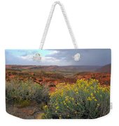 Early Evening Landscape At Arches National Park Weekender Tote Bag