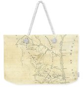 Early Hand-drawn Southern Texas Map C. 1795 Weekender Tote Bag