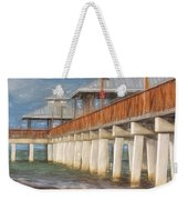 Early Morning At Fort Myers Beach Weekender Tote Bag
