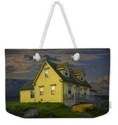 Early Morning At Peggys Cove In Nova Scotia Canada Weekender Tote Bag