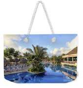 Early Morning At The Pool Weekender Tote Bag