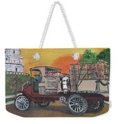 Early Morning Delivery Weekender Tote Bag