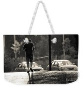 Early Morning Jog Weekender Tote Bag