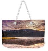 Early Morning Lake Light Weekender Tote Bag by Robert Bales