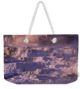 Early Morning Light On Minerva Springs Yellowstone National Park Weekender Tote Bag
